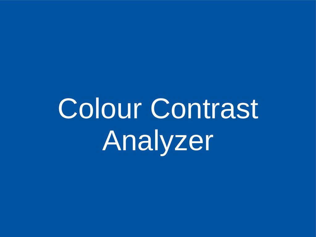 Colour Contrast Analyzer