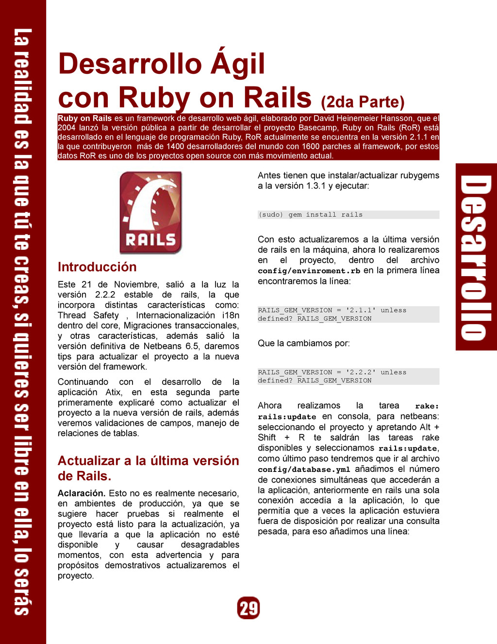 Desarrollo Ágil con Ruby on Rails (2da Parte) R...