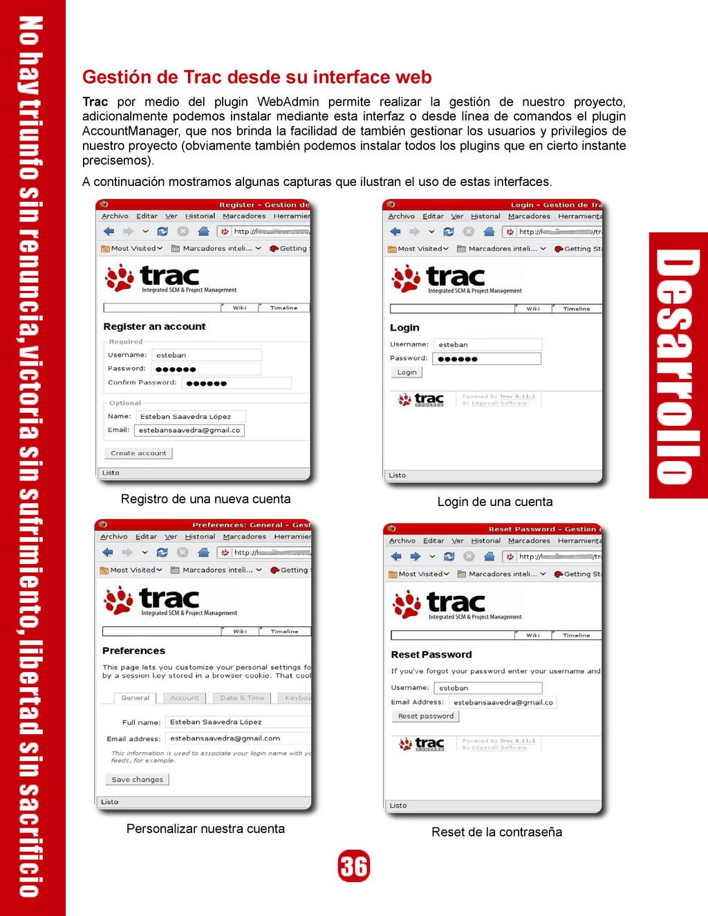 Gestión de Trac desde su interface web Trac por...
