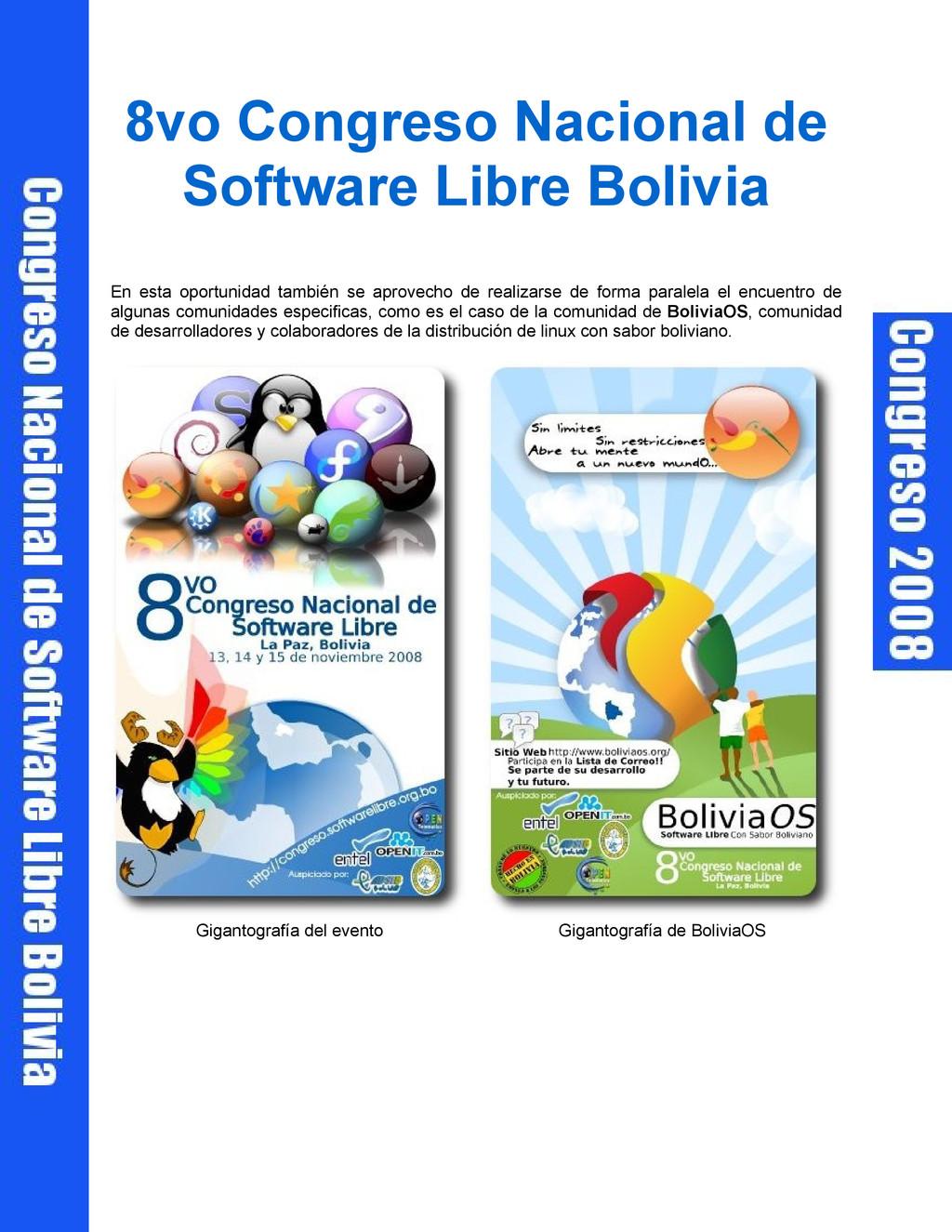 8vo Congreso Nacional de Software Libre Bolivia...
