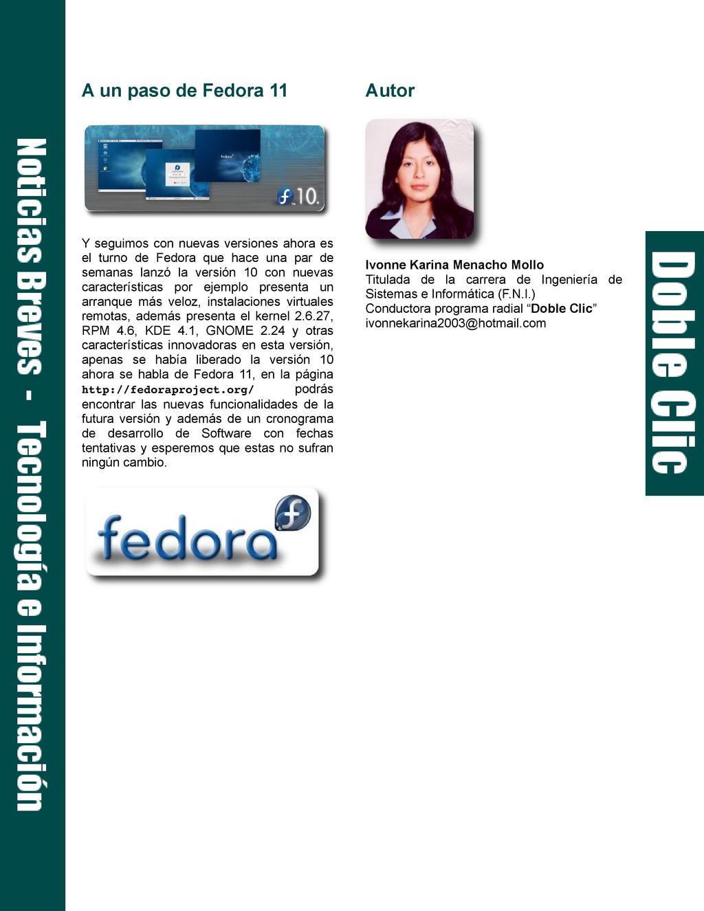 A un paso de Fedora 11 Y seguimos con nuevas ve...