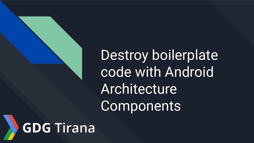 Destroy boilerplate code with Android Architect...