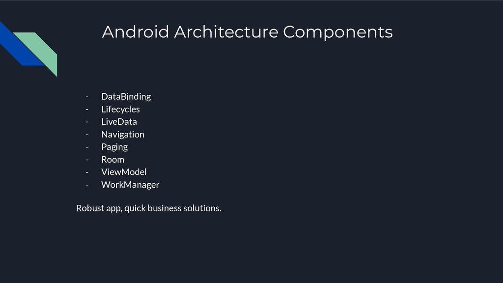 Android Architecture Components - DataBinding -...