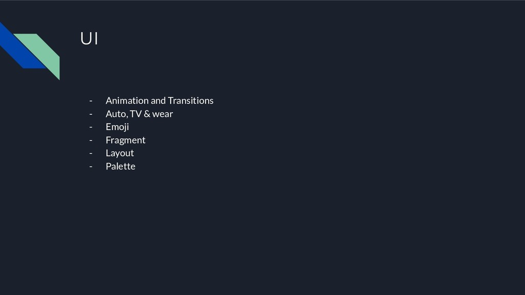 UI - Animation and Transitions - Auto, TV & wea...