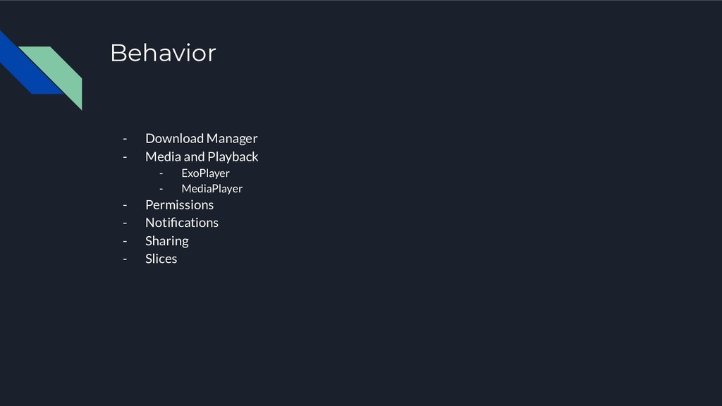 Behavior - Download Manager - Media and Playbac...