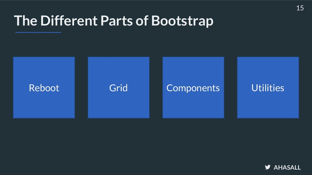 AHASALL The Different Parts of Bootstrap 15 Reb...
