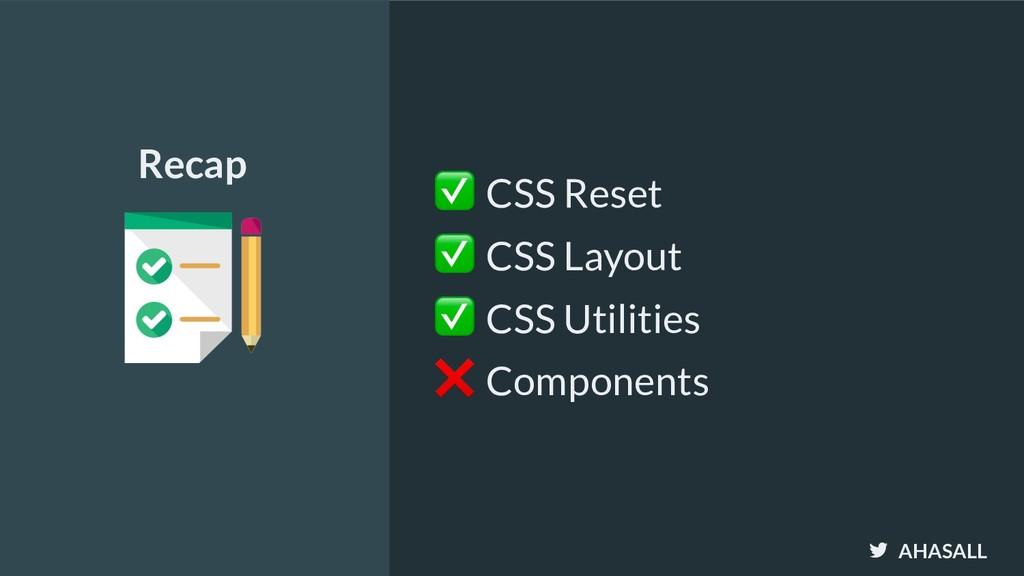 AHASALL ✅ CSS Reset ✅ CSS Layout ✅ CSS Utilitie...