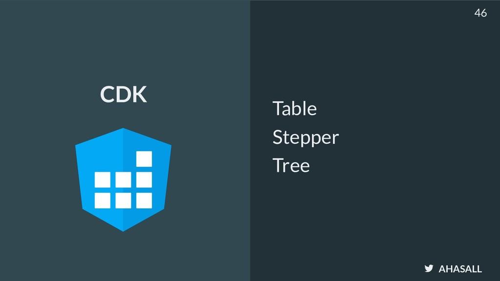 AHASALL Table Stepper Tree 46 CDK