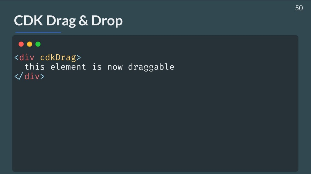 AHASALL CDK Drag & Drop <div cdkDrag> this ele...