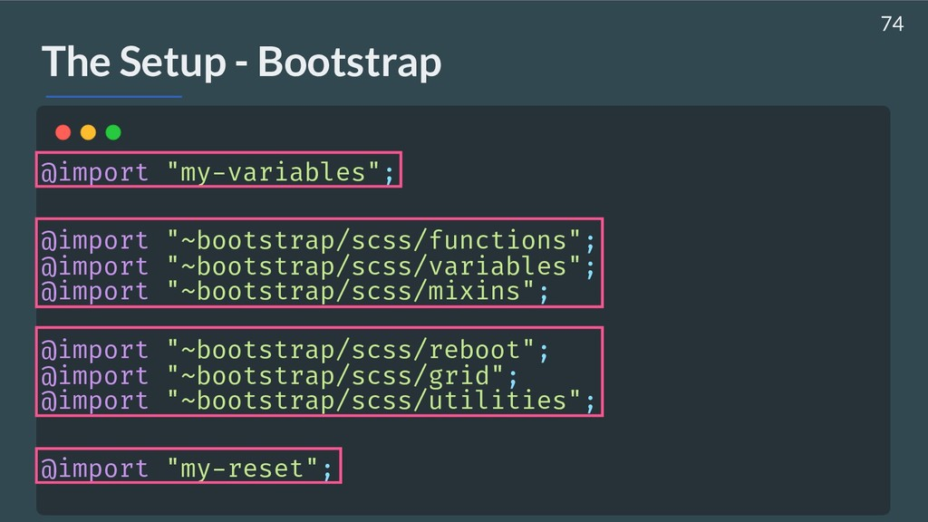 """AHASALL The Setup - Bootstrap @import """"my-varia..."""