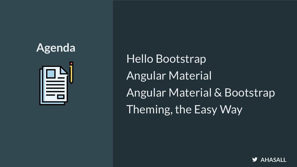 AHASALL Hello Bootstrap Angular Material Angula...