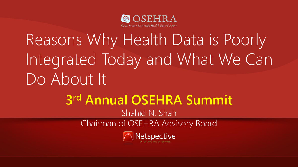 Reasons Why Health Data is Poorly Integrated To...