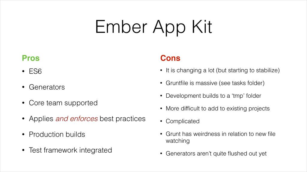 • ES6 • Generators • Core team supported • Appl...