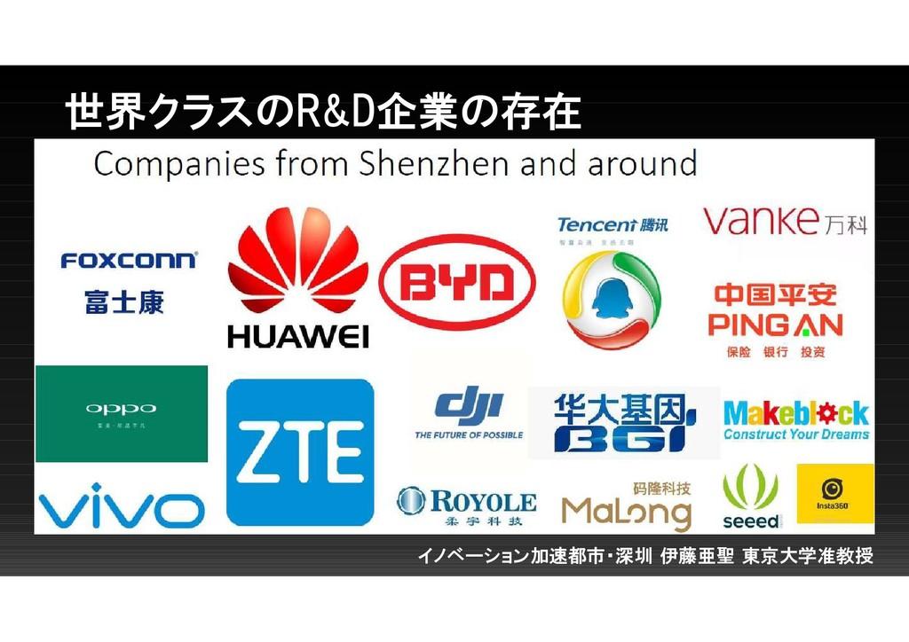 世界クラスのR&D企業の存在 イノベーション加速都市・深圳 伊藤亜聖 東京大学准教授