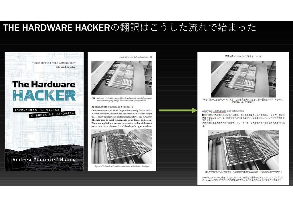 THE HARDWARE HACKERの翻訳はこうした流れで始まった