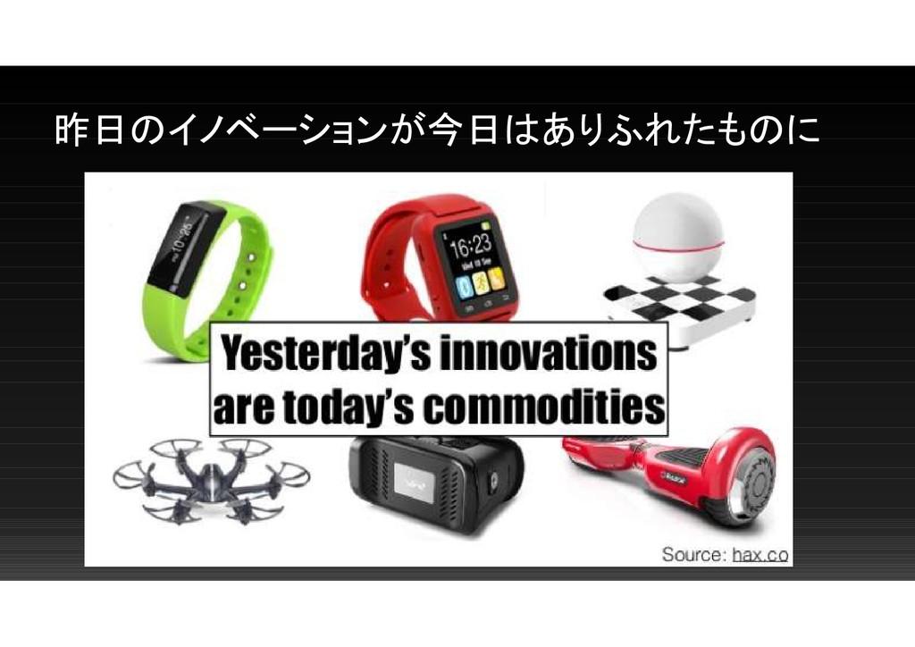 昨日のイノベーションが今日はありふれたものに