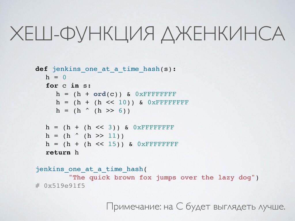 ХЕШ-ФУНКЦИЯ ДЖЕНКИНСА def jenkins_one_at_a_time...