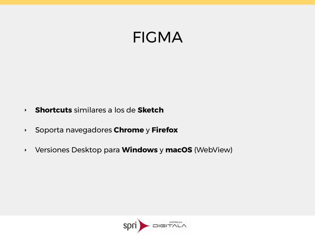 FIGMA ‣ Shortcuts similares a los de Sketch ‣ S...