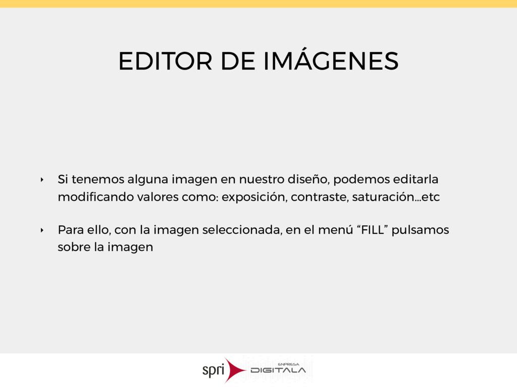 EDITOR DE IMÁGENES ‣ Si tenemos alguna imagen e...