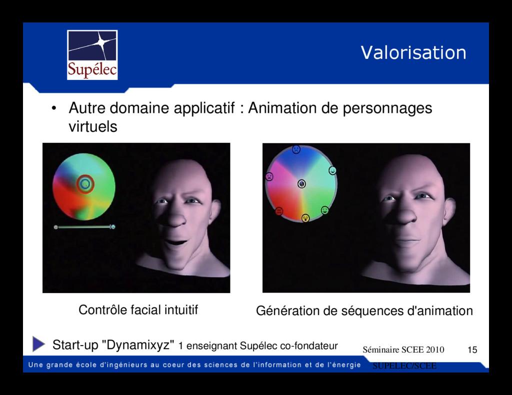 Valorisation • Autre domaine applicatif : Anima...
