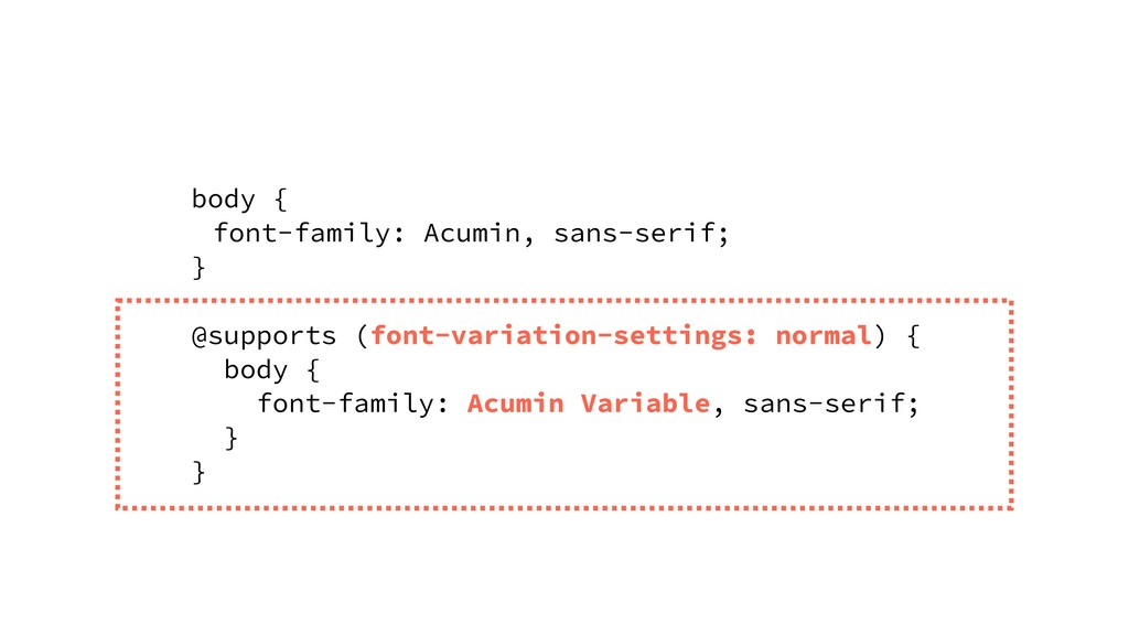 body { font-family: Acumin, sans-serif; } @supp...