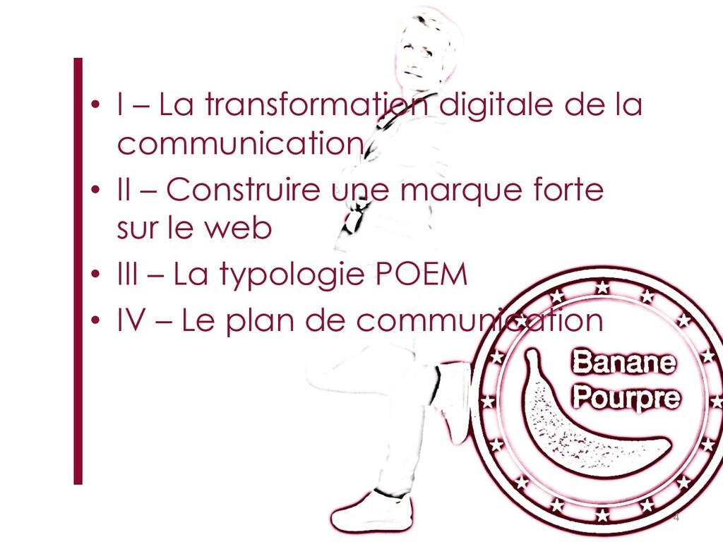 • I – La transformation digitale de la communic...