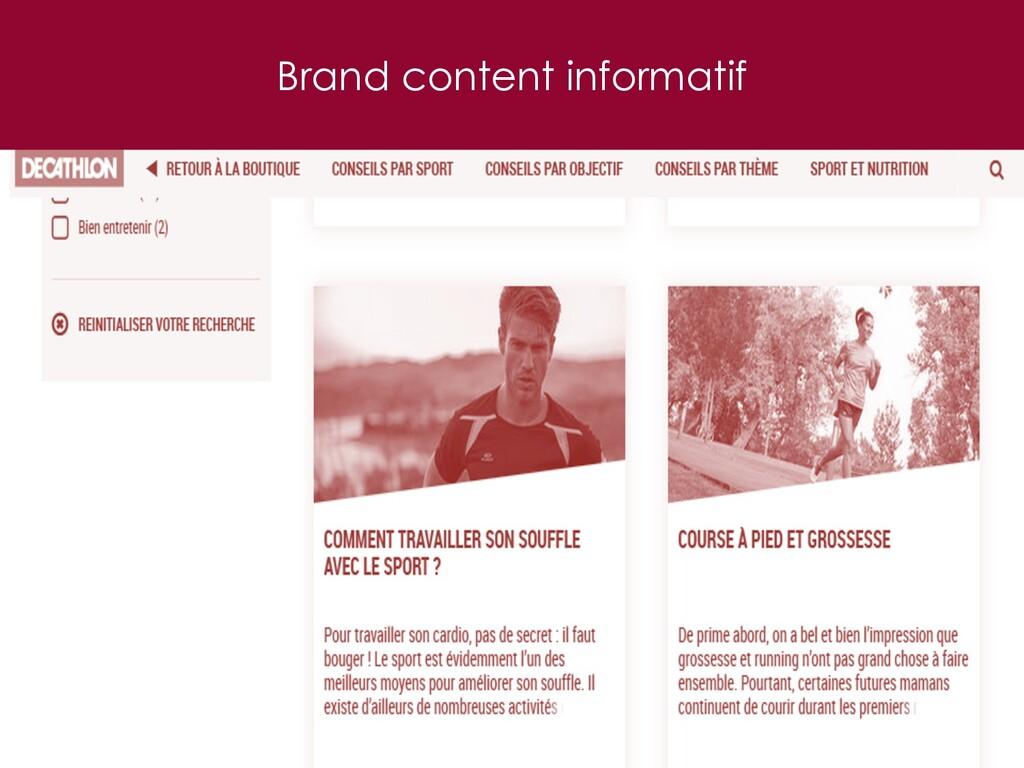Brand content informatif 31