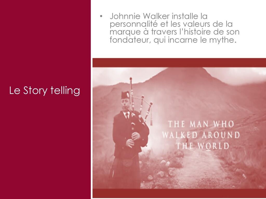33 Le Story telling • Johnnie Walker installe l...