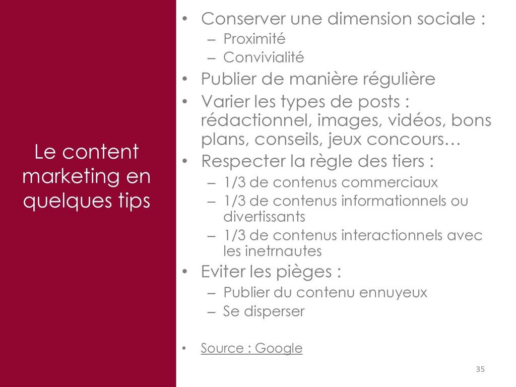 35 Le content marketing en quelques tips • Cons...