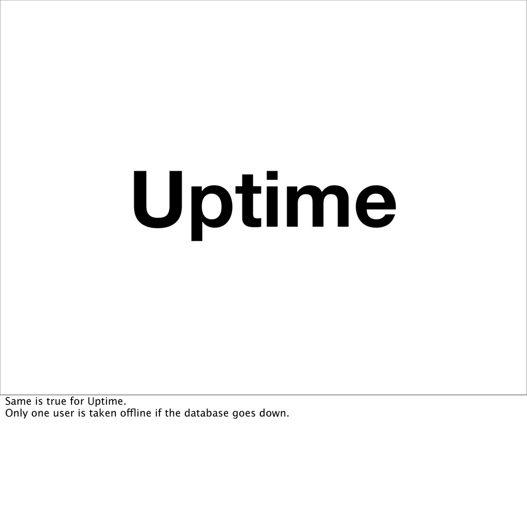 Uptime Same is true for Uptime. Only one user i...