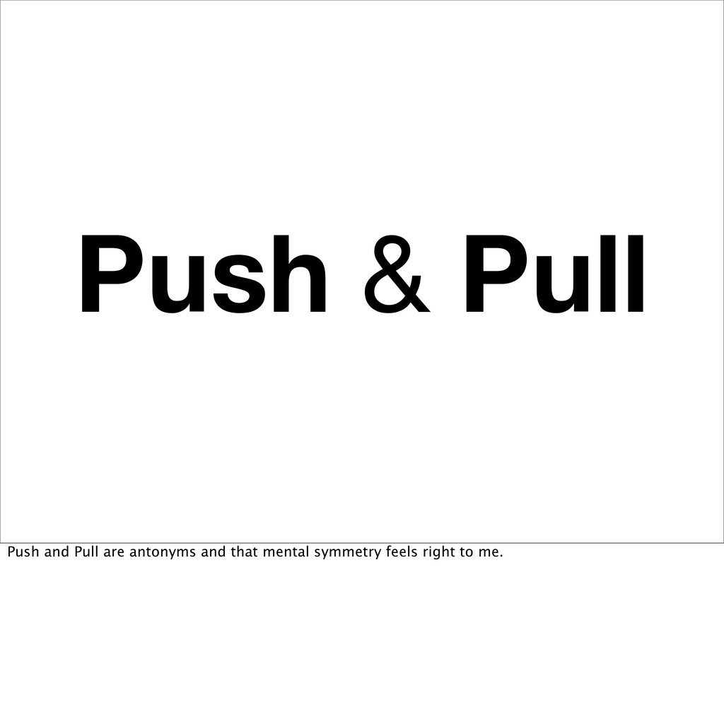 Push & Pull Push and Pull are antonyms and that...