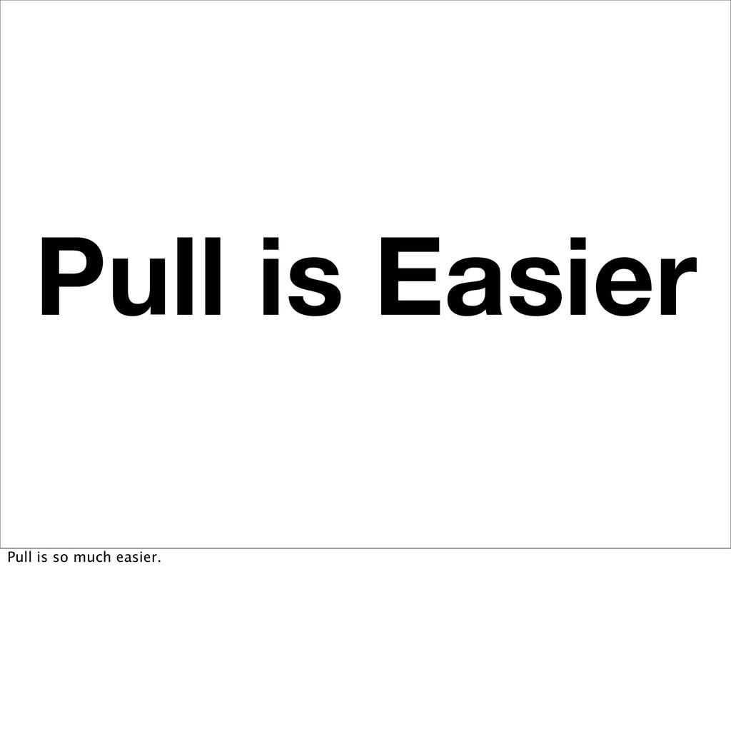 Pull is Easier Pull is so much easier.