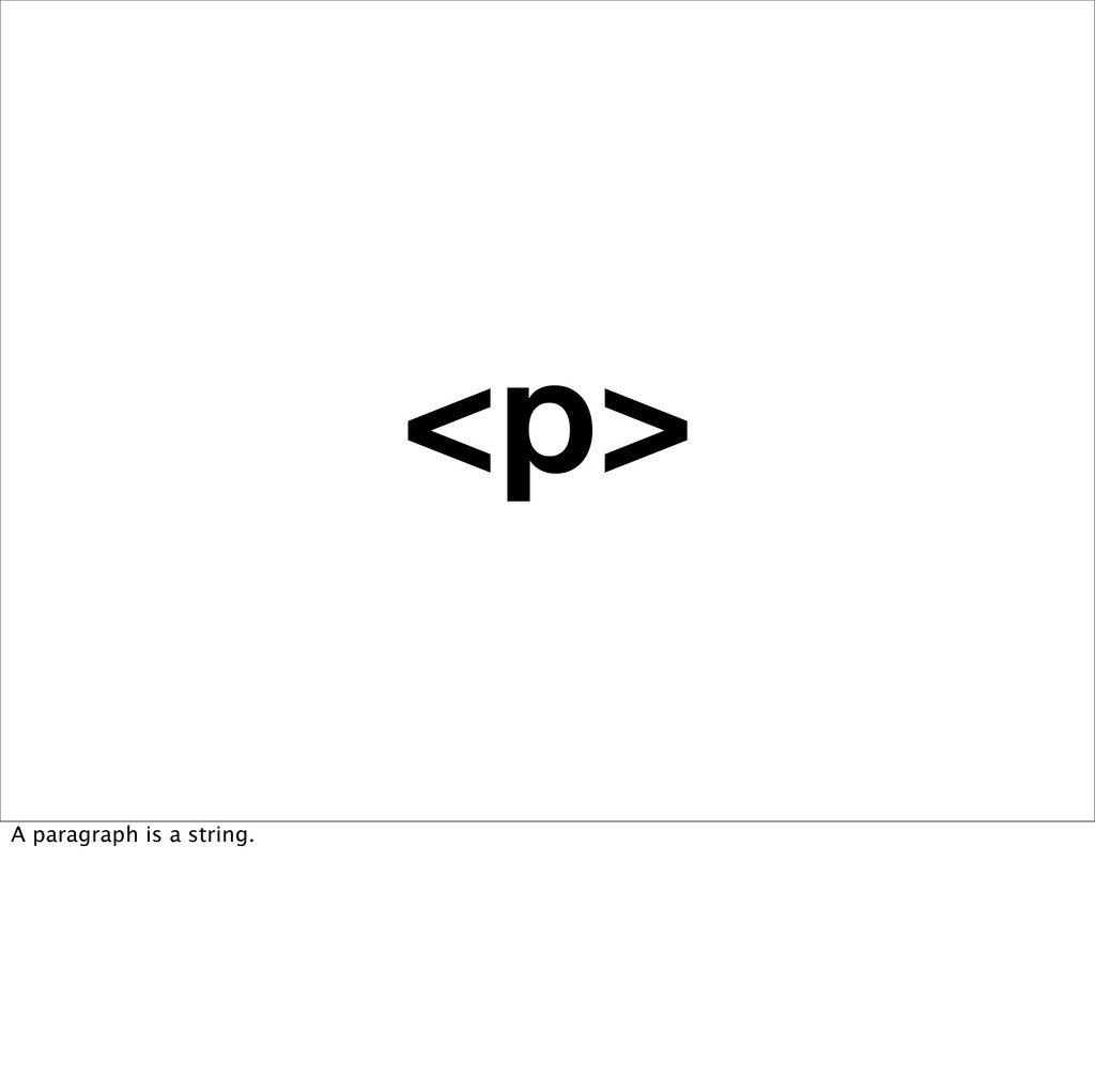 <p> A paragraph is a string.