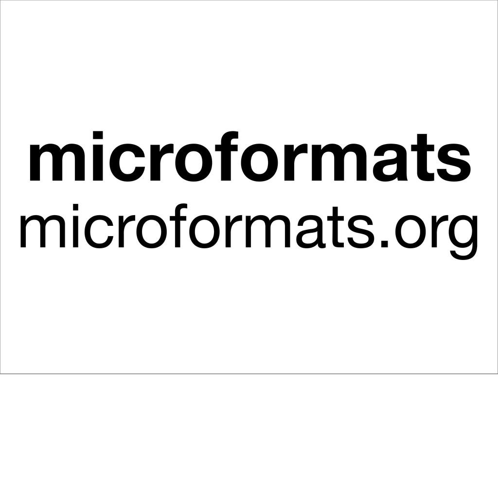 microformats microformats.org