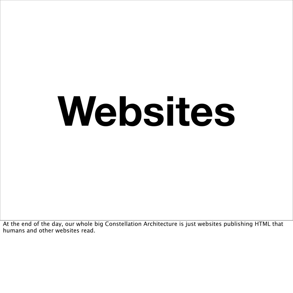 Websites At the end of the day, our whole big C...
