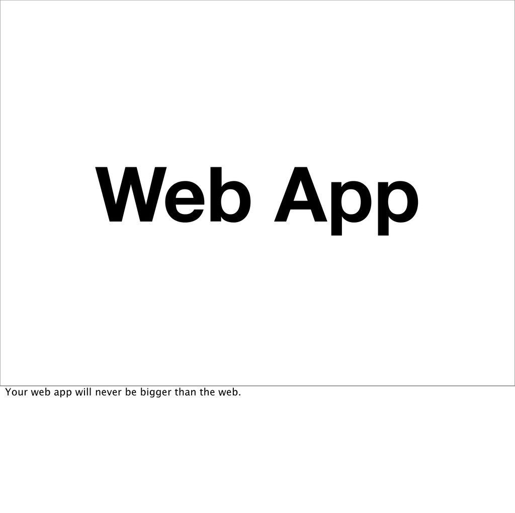 Web App Your web app will never be bigger than ...