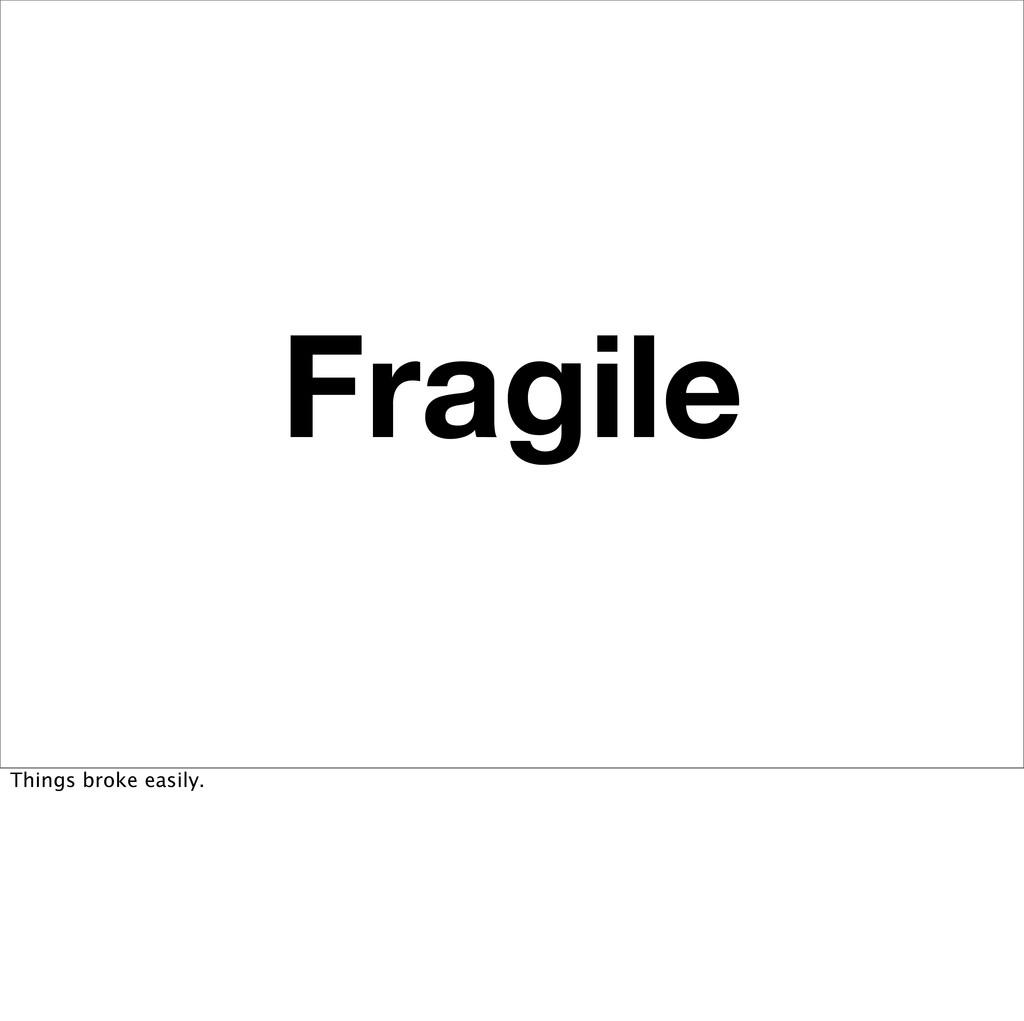 Fragile Things broke easily.