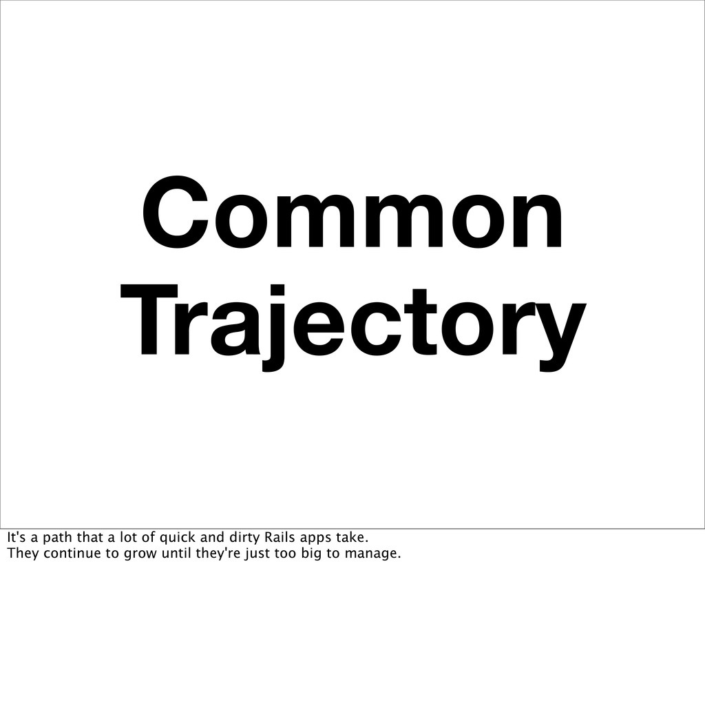 Common Trajectory It's a path that a lot of qui...