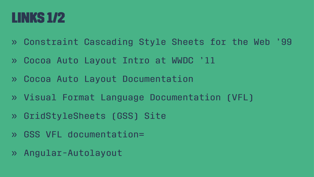 Links 1/2 » Constraint Cascading Style Sheets f...