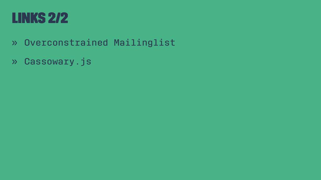 Links 2/2 » Overconstrained Mailinglist » Casso...