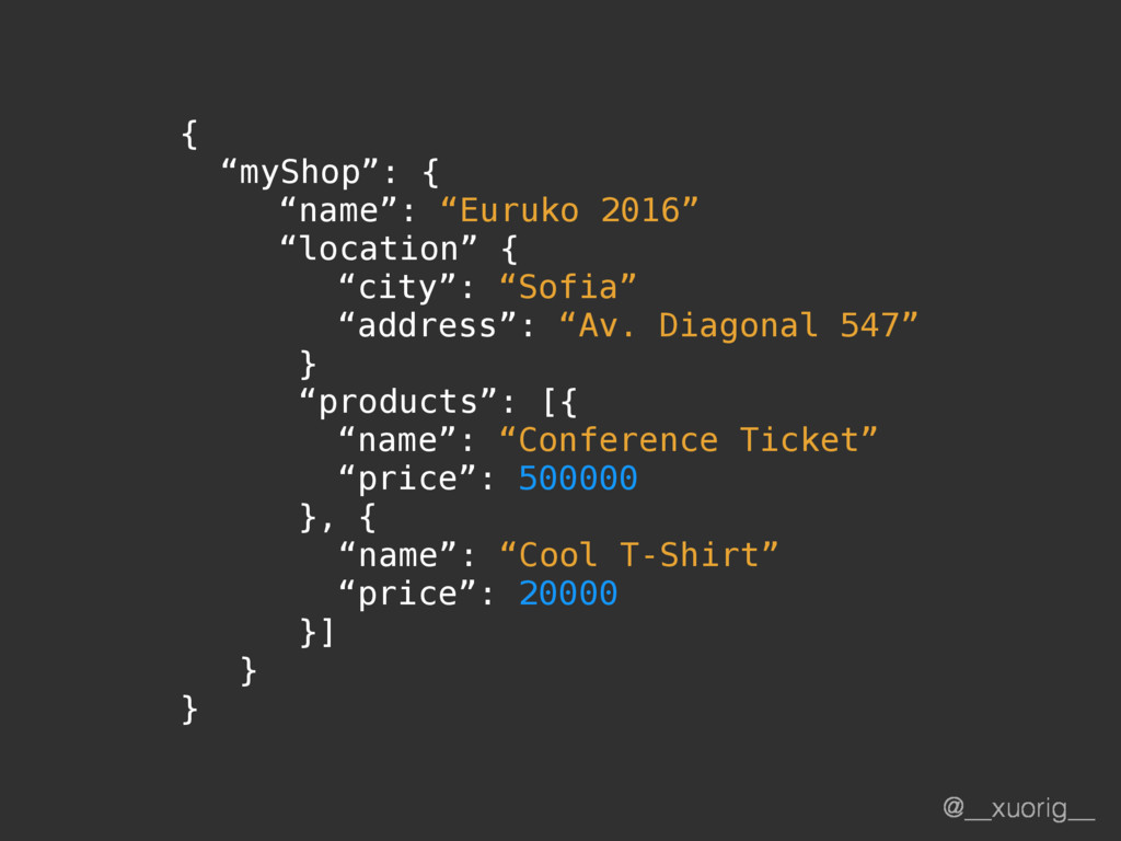 "@__xuorig__ { ""myShop"": { ""name"": ""Euruko 2016""..."