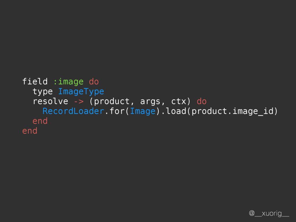 @__xuorig__ field :image do type ImageType reso...
