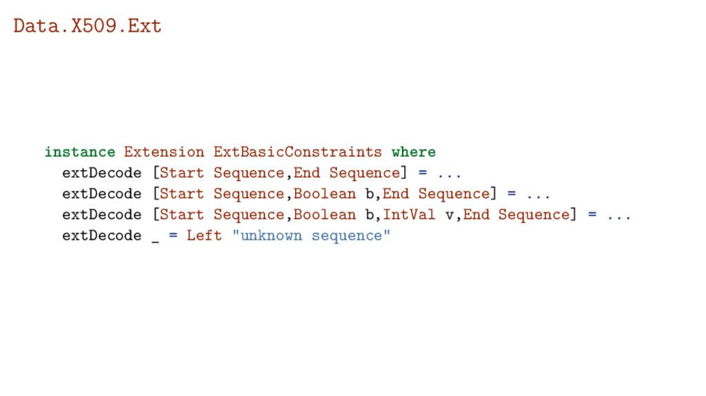 Data.X509.Ext instance Extension ExtBasicConstr...