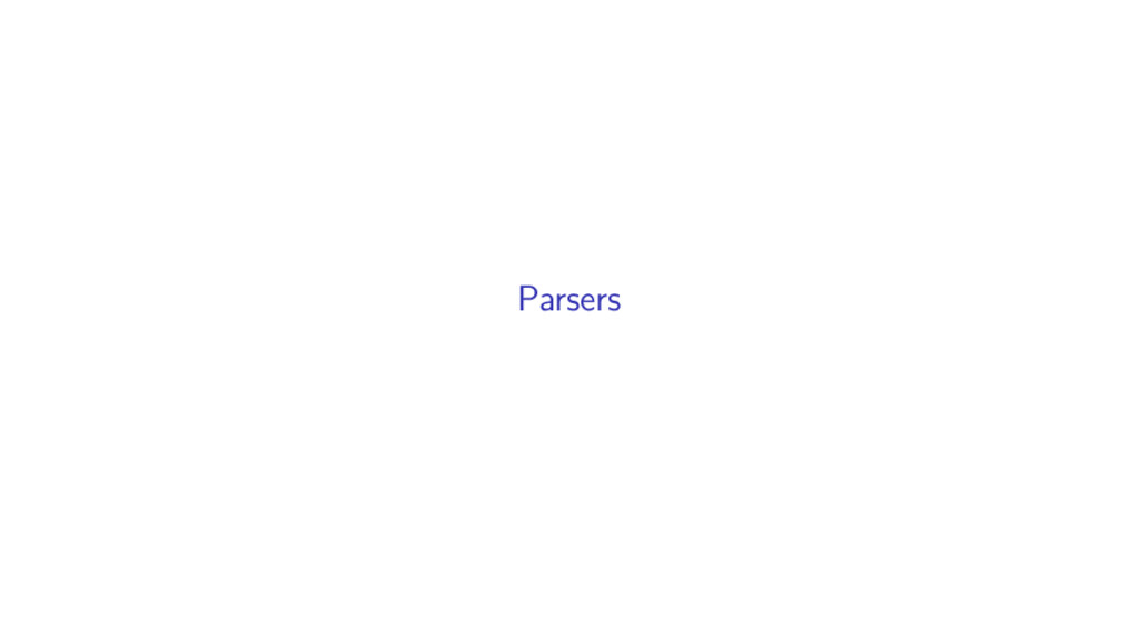 Parsers