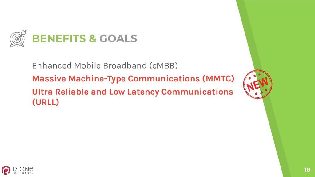 BENEFITS & GOALS 18 Enhanced Mobile Broadband (...
