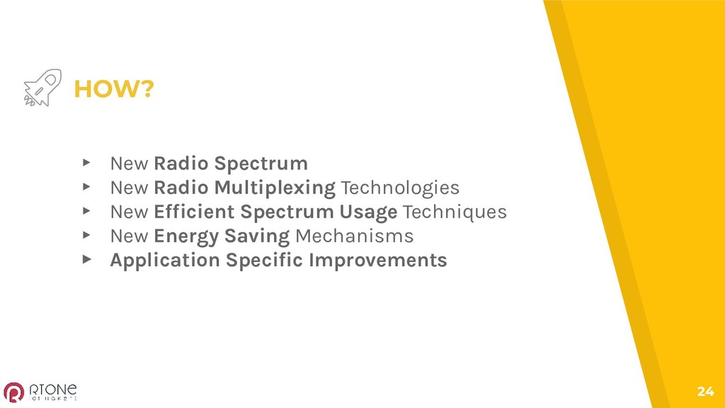 24 HOW? ▸ New Radio Spectrum ▸ New Radio Multip...