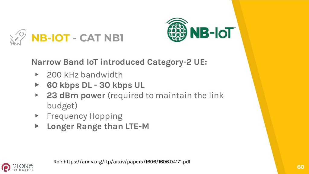 60 NB-IOT - CAT NB1 Narrow Band IoT introduced ...