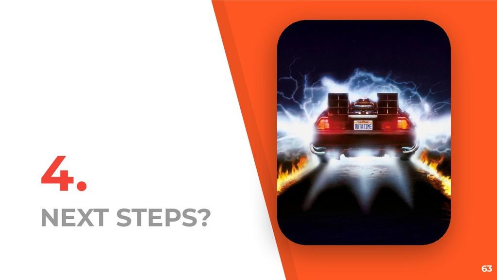 4. NEXT STEPS? 63