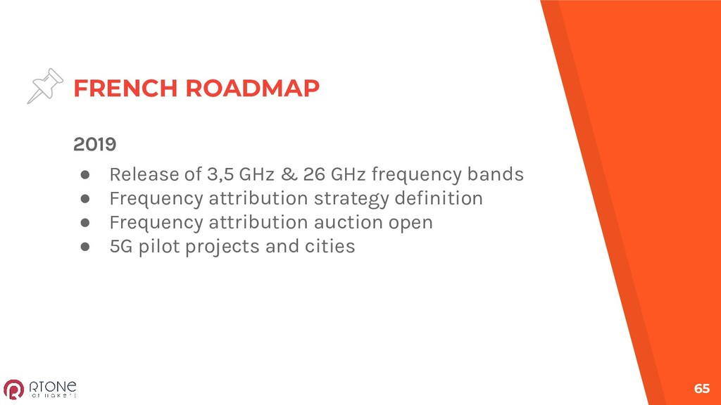 FRENCH ROADMAP 65 2019 ● Release of 3,5 GHz & 2...