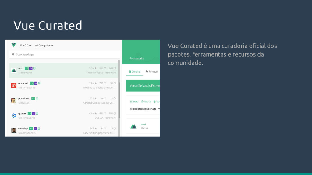 Vue Curated Vue Curated é uma curadoria oficial...